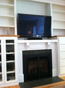 B & H Entertainment Ctr. After with Fireplace